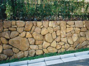 自然石の石積み その3