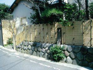 御簾垣(みすがき)と石樋(いしとい)その1