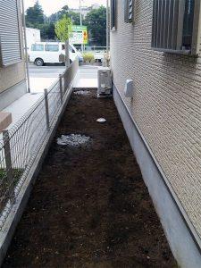 土すき取り、地下暗渠