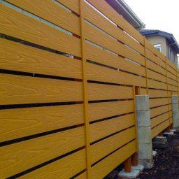 お庭のリフォーム(樹木抜根、木目調フェンス設置)