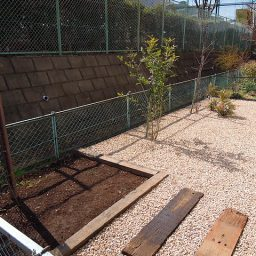 マンション占有庭の改修工事(庭のデザイン)