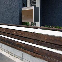焼き杉の板塀デザイン工事